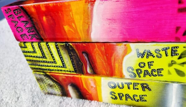 Blank Space, Waste of Space, Outer Space Acrylic Fluid Painting by Adrian Reynolds