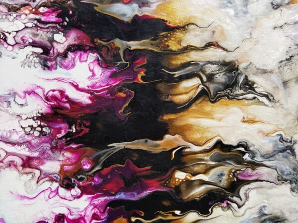 LED Flame Acrylic Fluid Painting by Adrian Reynolds