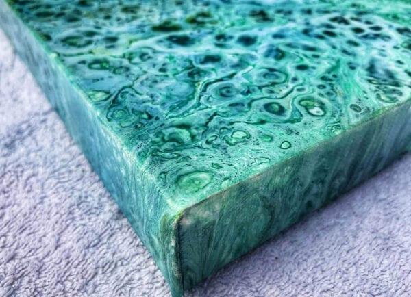 Sea Foam Acrylic Fluid Painting by Adrian Reynolds
