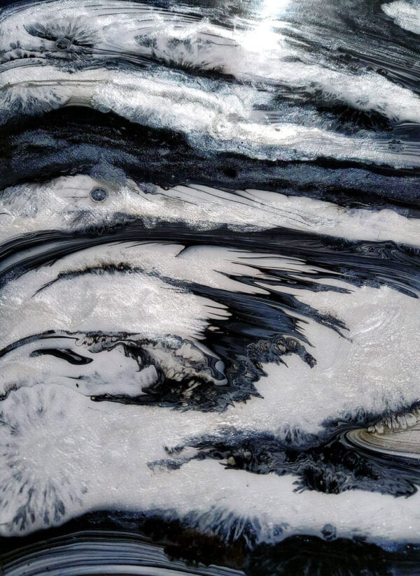 Ultrasound Lockdown Acrylic Fluid Painting by Adrian Reynolds