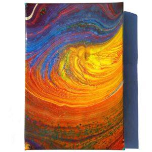 Fluid Galaxy v1 Acrylic Fluid Painting by Adrian Reynolds