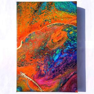 Fluid Galaxy v2 Acrylic Fluid Painting by Adrian Reynolds