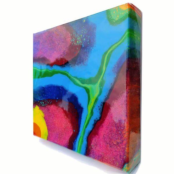 Fluid Pride v1 Acrylic Fluid Painting by Adrian Reynolds