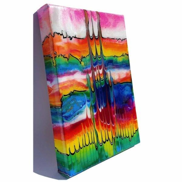 Lifelines of Pride v1 Acrylic Fluid Painting by Adrian Reynolds