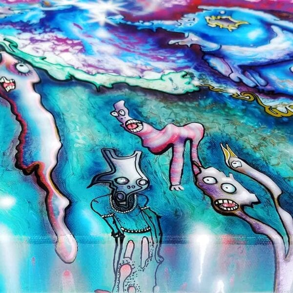 The Battle of The 3 Legged Dog and Blue Blob v…..
